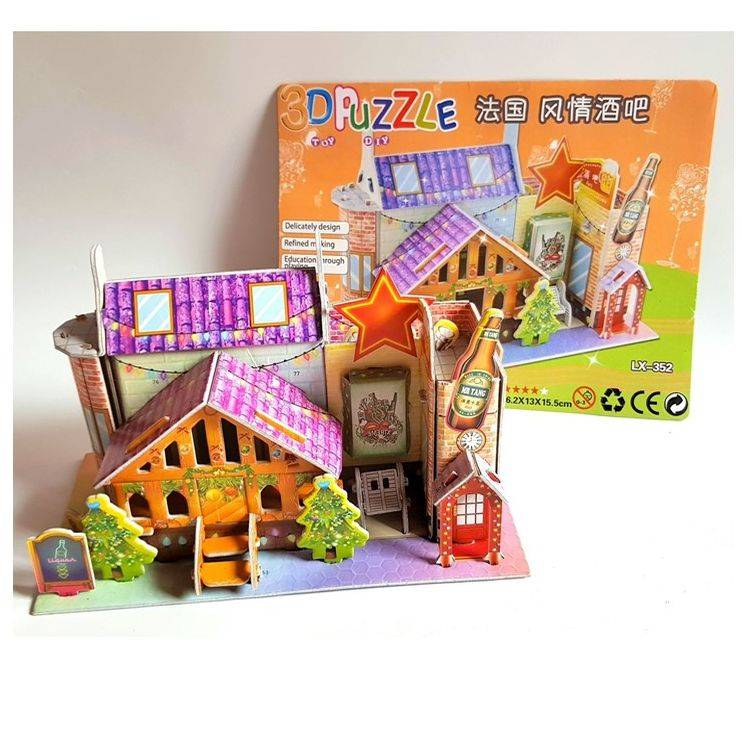 Mainan 3d Puzzle - 24 Hours Cafe1