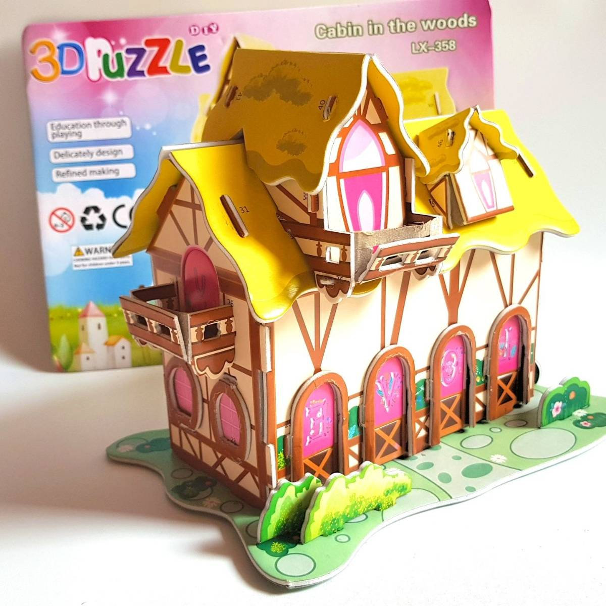 Mainan 3d Puzzle - Cabin In The Woods0
