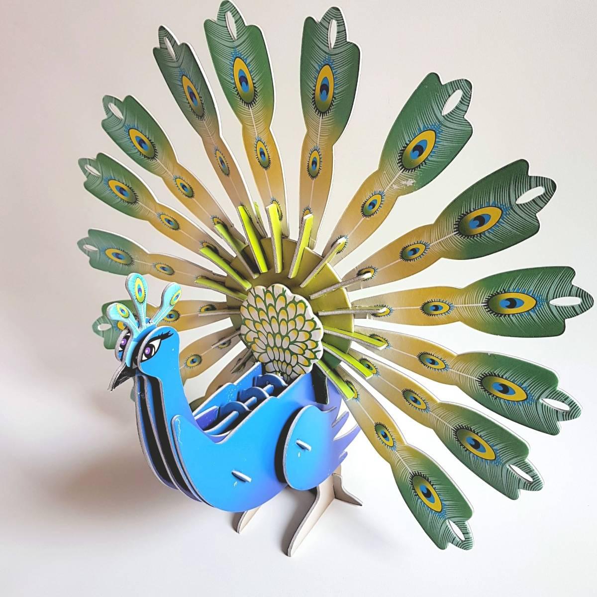 Mainan 3d Puzzle - Burung Merak2