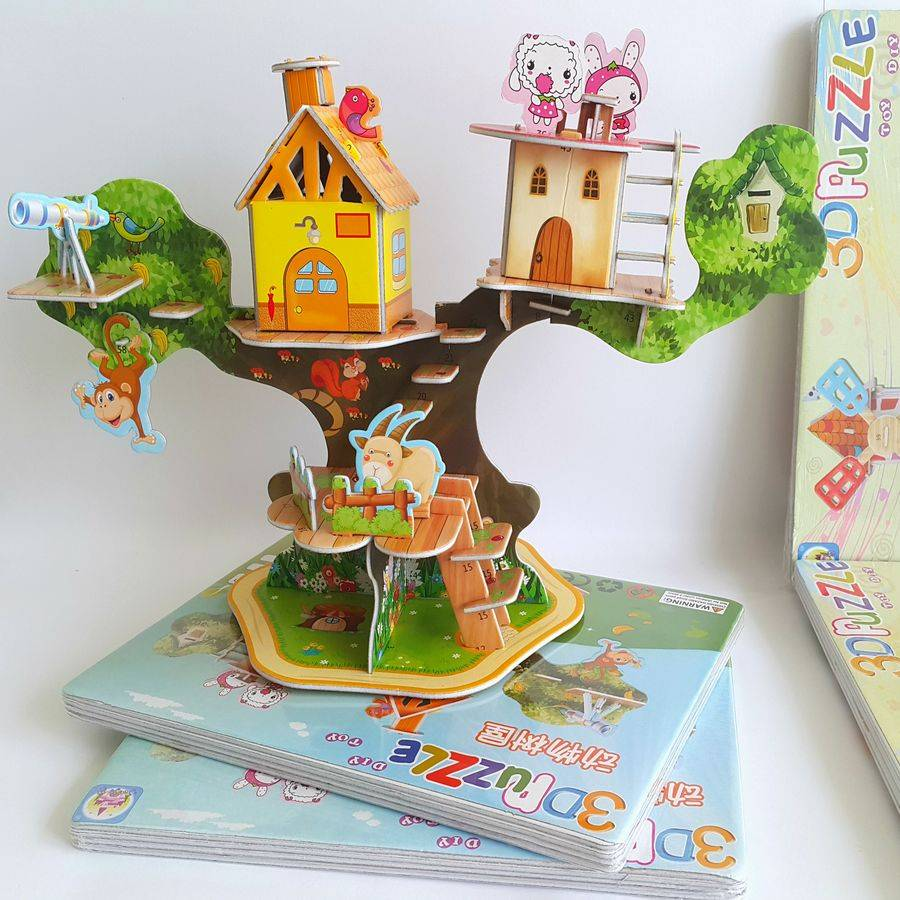 Mainan 3d Puzzle - Tree House