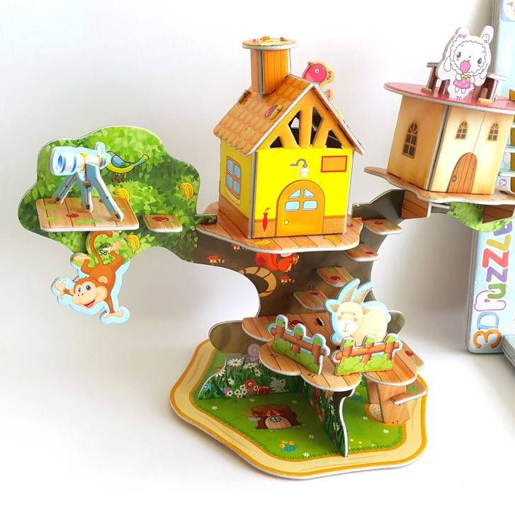 Mainan 3d Puzzle - Tree House1