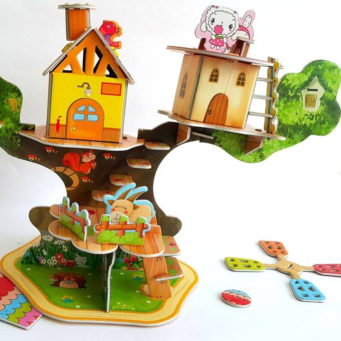Mainan 3d Puzzle - Tree House2