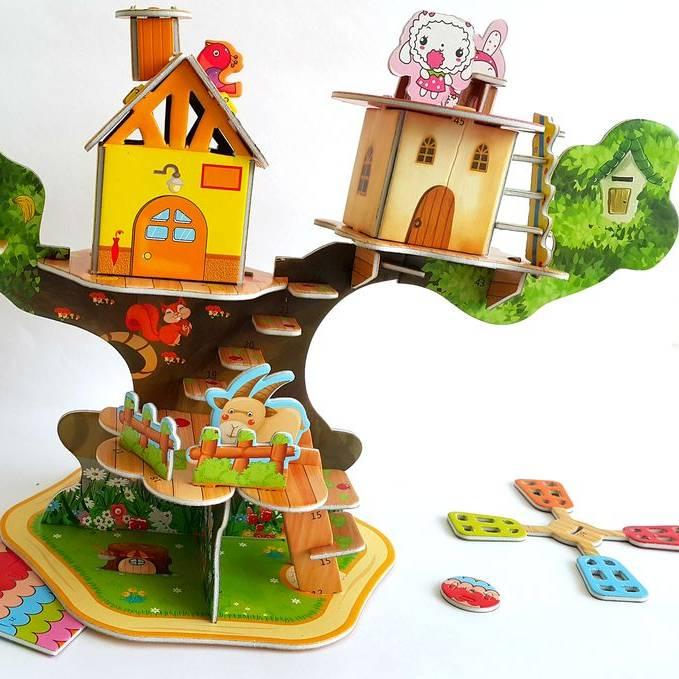 Mainan 3d Puzzle  - Tree House2
