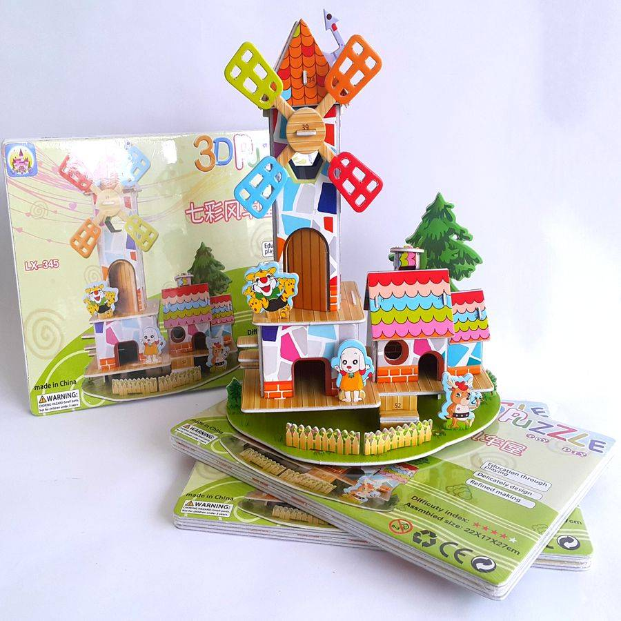 Mainan 3d Puzzle - Windmill Home