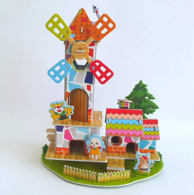 Mainan 3d Puzzle - Windmill Home1