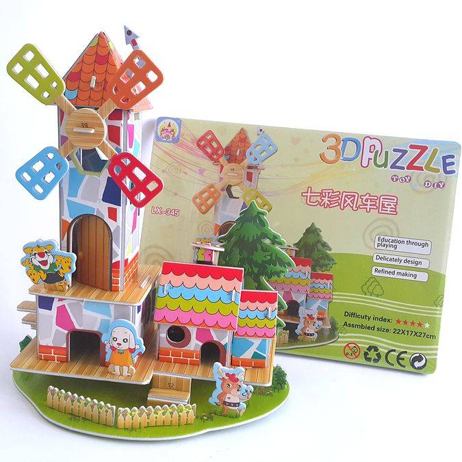 Mainan 3d Puzzle - Windmill Home2