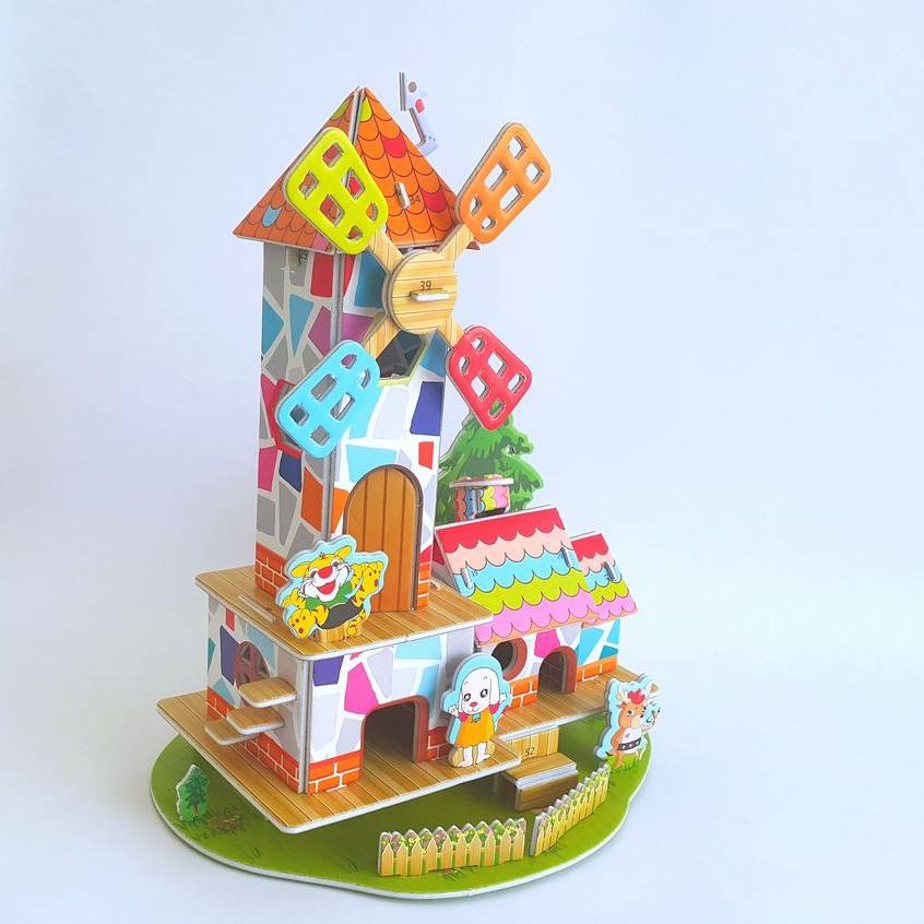 Mainan 3d Puzzle - Windmill Home3