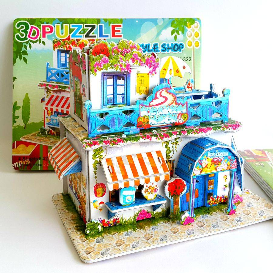 Mainan 3d Puzzle - Ice Cream Store