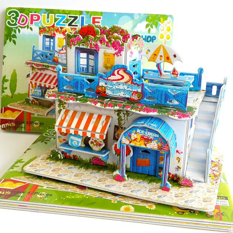 Mainan 3d Puzzle - Ice Cream Store1