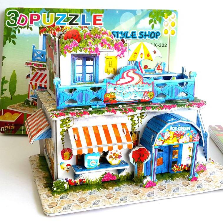 Mainan 3d Puzzle - Ice Cream Store2