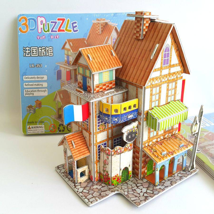Mainan 3d Puzzle - France Hotel