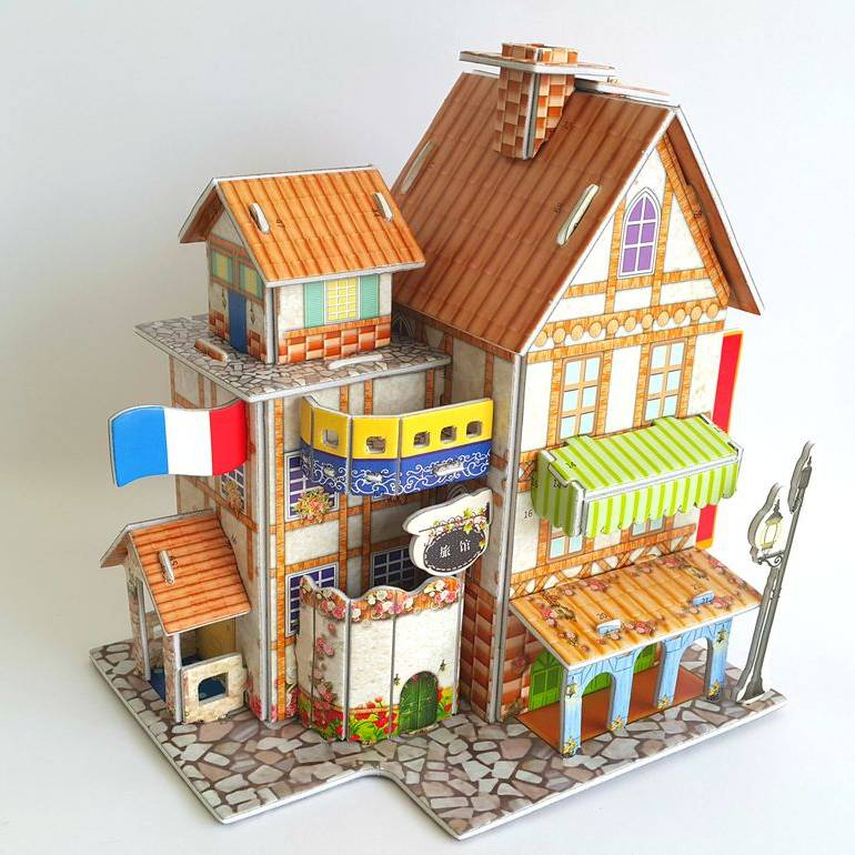 Mainan 3d Puzzle - France Hotel1