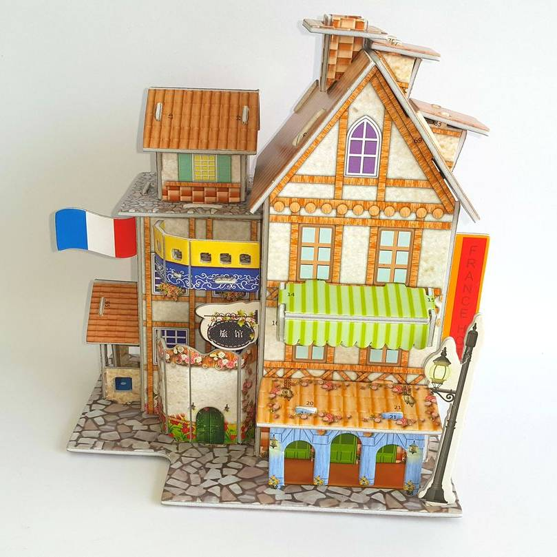 Mainan 3d Puzzle - France Hotel2