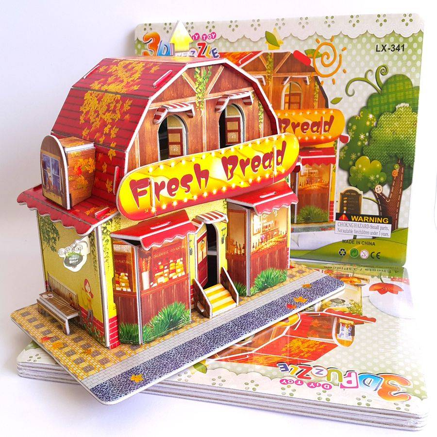 Mainan 3d Puzzle - Bread Store