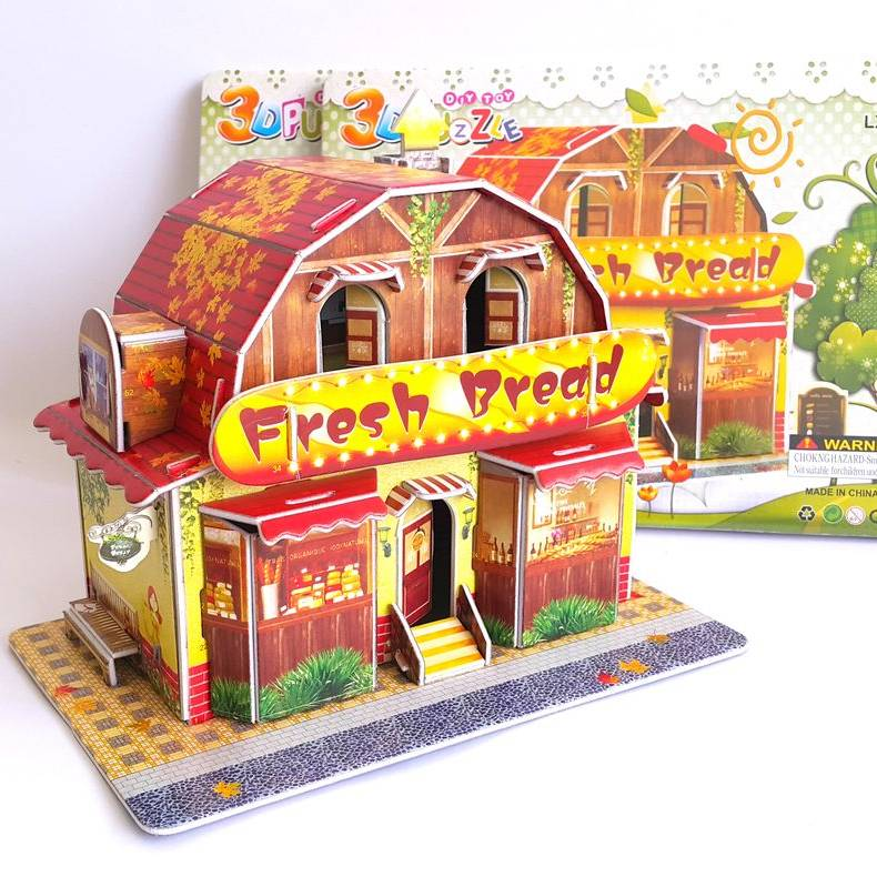 Mainan 3d Puzzle - Bread Store1