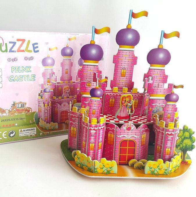Mainan 3d Puzzle - Princess Castle1