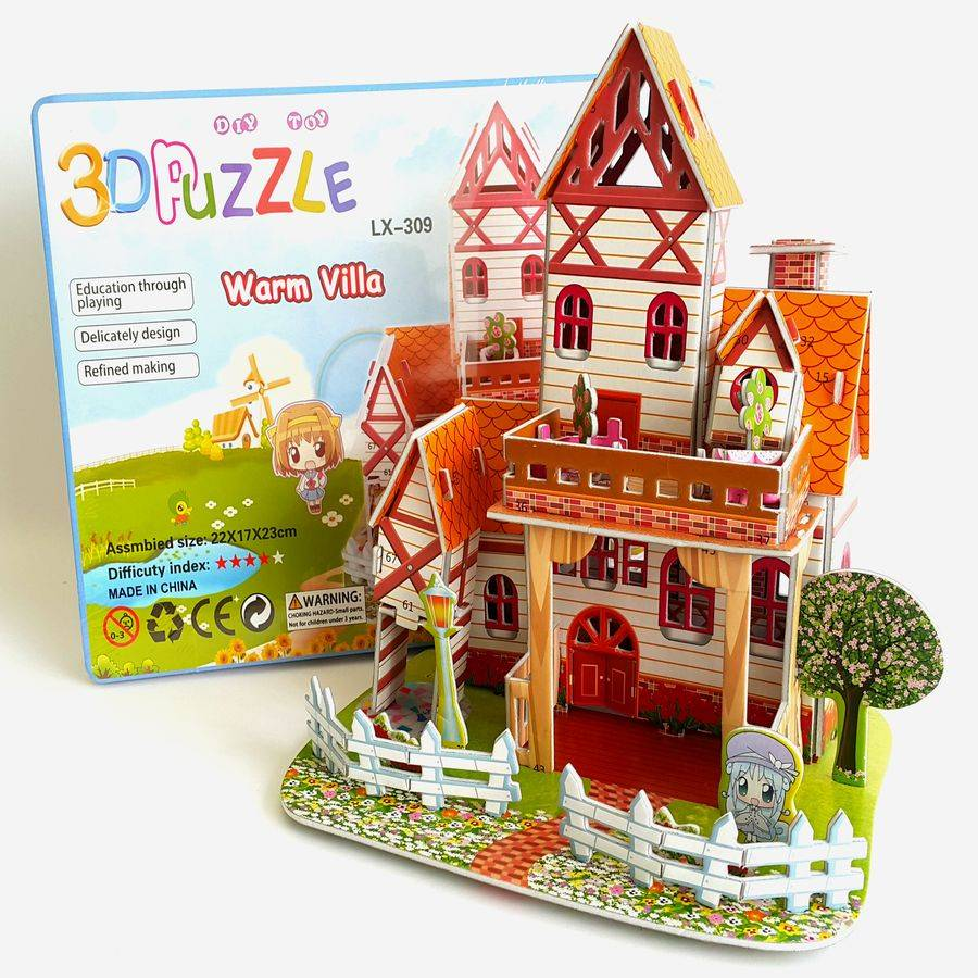 Mainan 3d Puzzle - Warm Villa