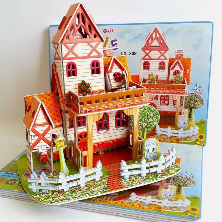 Mainan 3d Puzzle - Warm Villa1