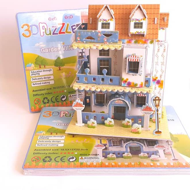Mainan 3d Puzzle - Garden Villa