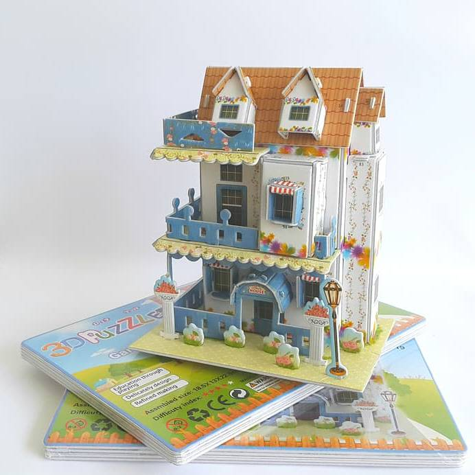 Mainan 3d Puzzle - Garden Villa1