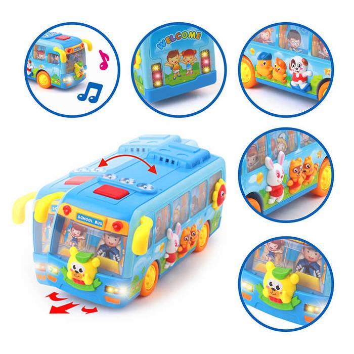 Mainan Bayi Bis Sekolah | Mainan Anak Bus Sekolah + Lampu dan Musik1