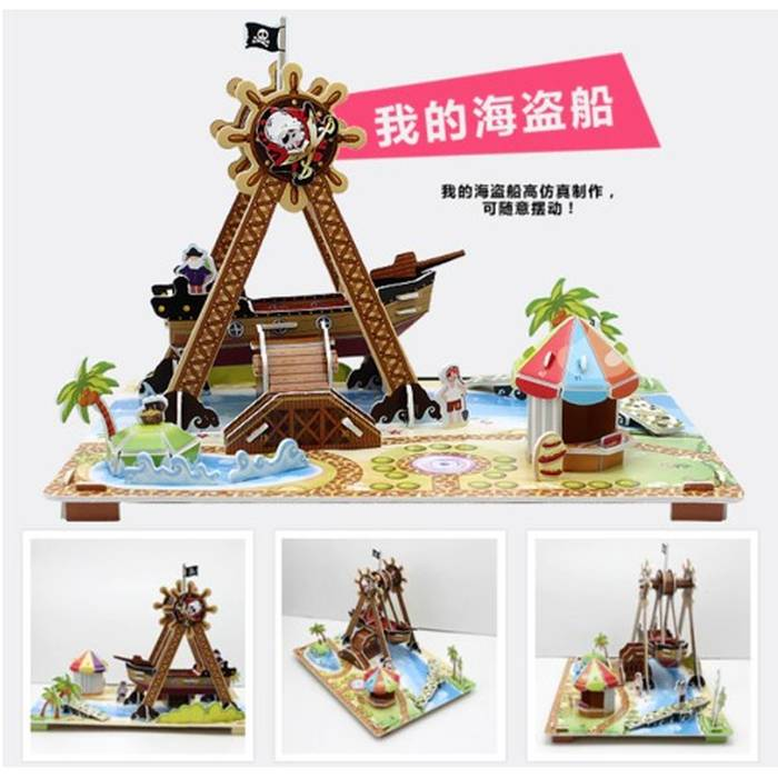 Mainan 3d Puzzle - Pirate Ship