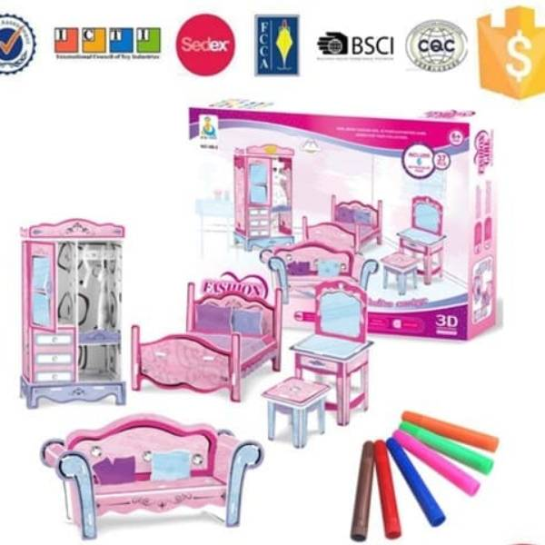 3D Puzzle Barbie Carriage - Merangkai dan Mewarnai | Mainan Edukasi1