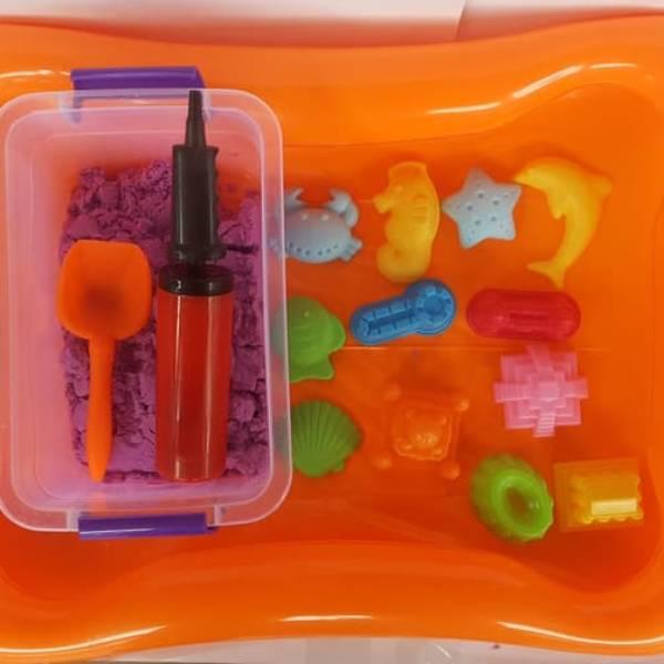 PAKET LENGKAP Pasir Kinetik | Mainan Edukasi Anak Kinetic Sand1