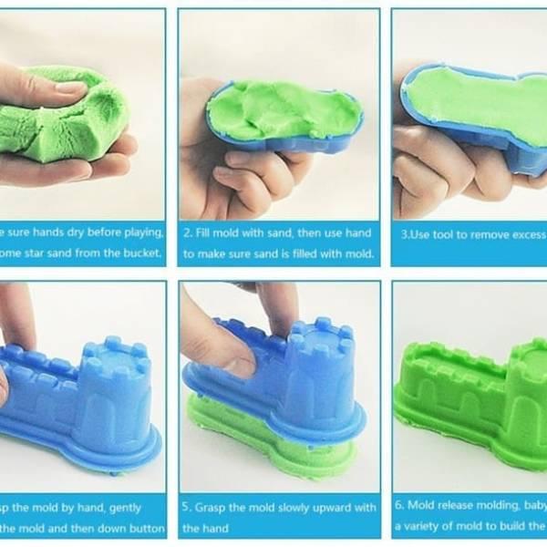 PAKET LENGKAP Pasir Kinetik | Mainan Edukasi Anak Kinetic Sand2