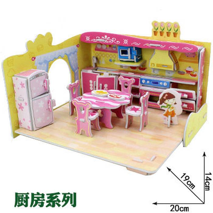 Mainan 3D Puzzle FUNNY KITCHEN