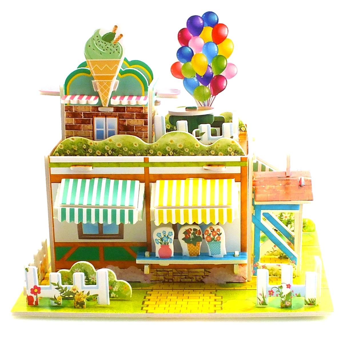 Mini Puzzle 3D | ICE CREAM HOUSE | Puzzle 3 Dimensi Rumah - 1690-42
