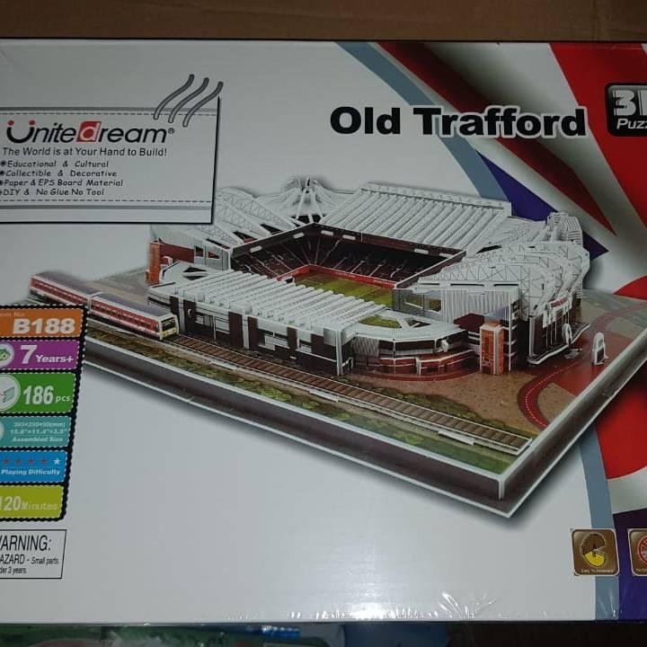 3D Puzzle Stadium | MANCHESTER UNITED - OLD TRAFFORD | Miniatur Puzzle1