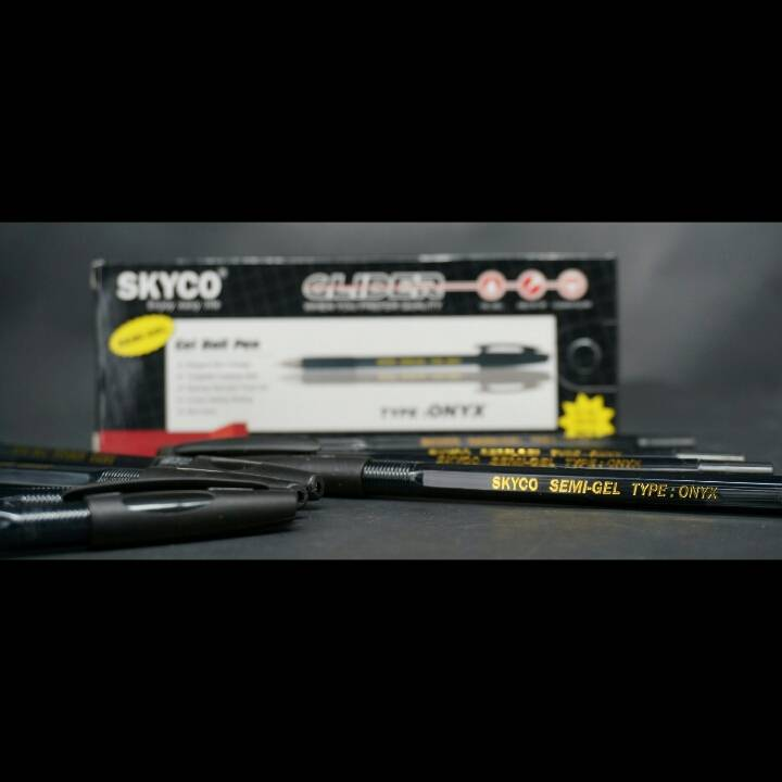Pulpen / Pen Skyco Onyx Black Per Lusin1