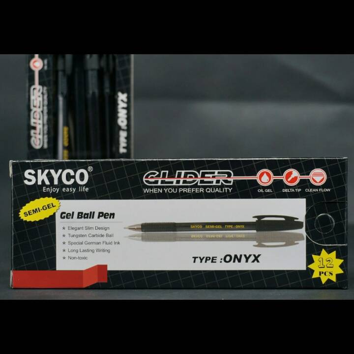 Pulpen / Pen Skyco Onyx Black Per Lusin3