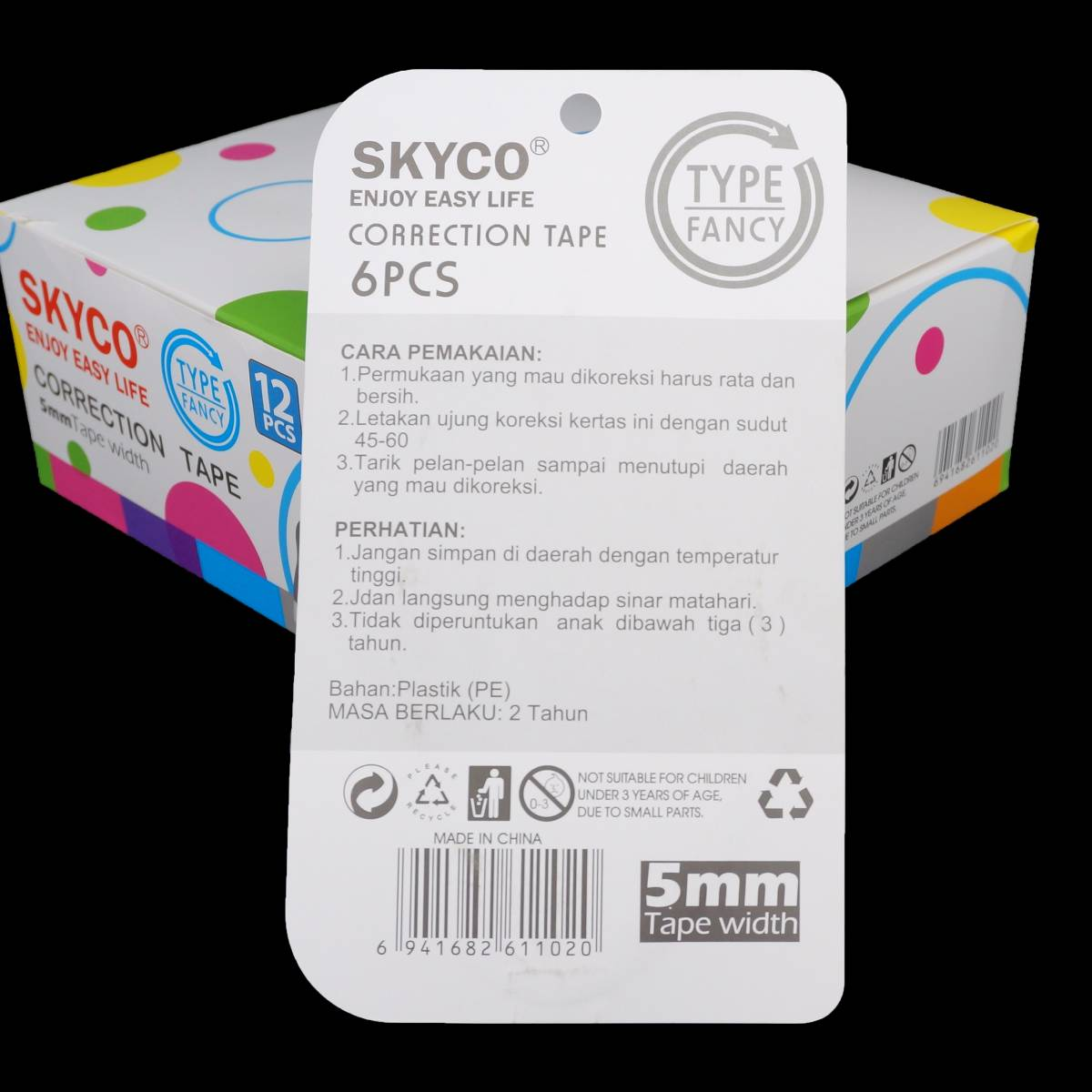 Correction Tape Skyco Fancy Per Set2