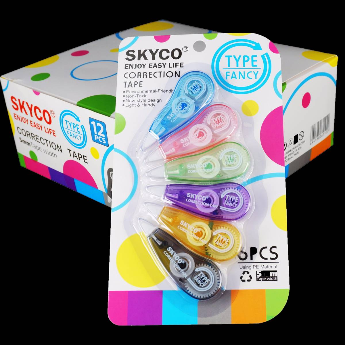 Correction Tape Skyco Fancy Per Set4