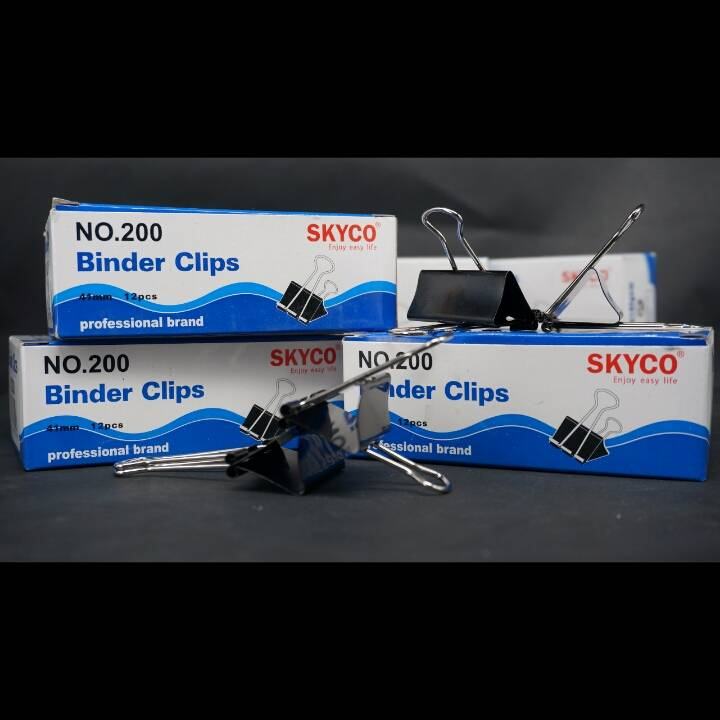Binder Clip Skyco No 200 Per Lusin