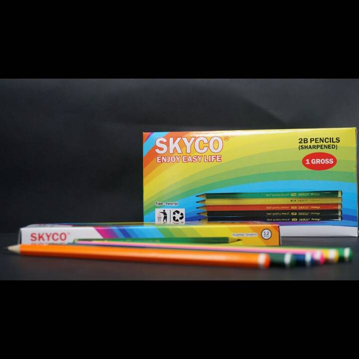 Pensil / Pencil Skyco Pelangi 2b Per Lusin4