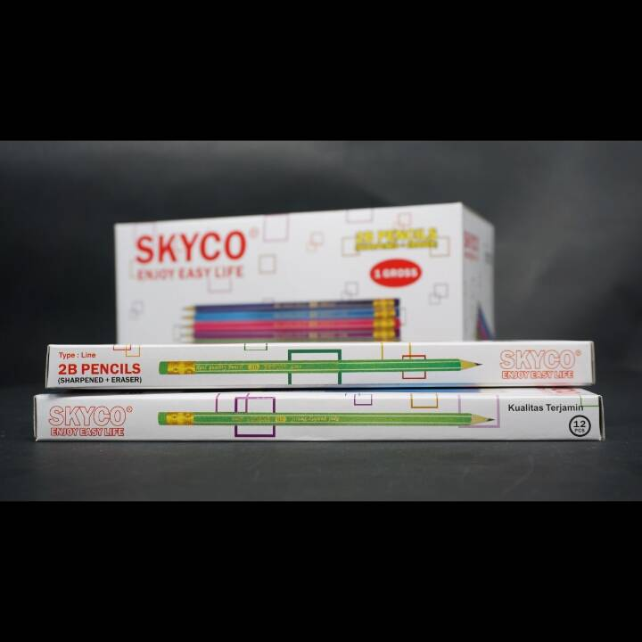 Pensil / Pencil Skyco Line 2b Per Lusin1