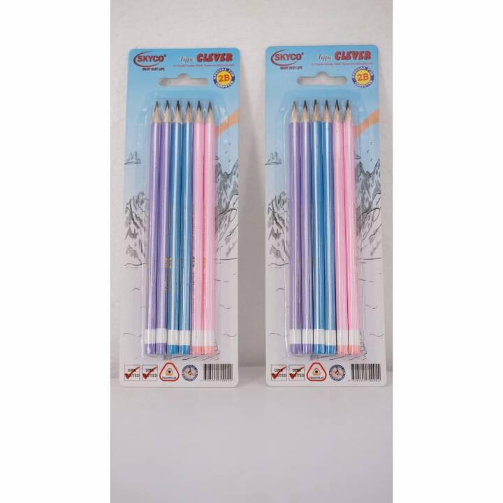 Pensil / Pencil Skyco Clever 2b Per Set2
