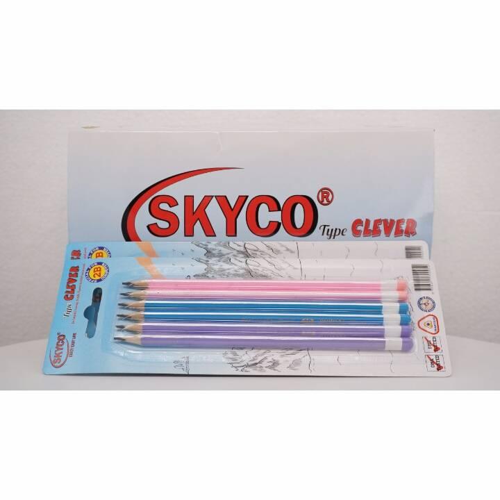 Pensil / Pencil Skyco Clever 2b Per Set4