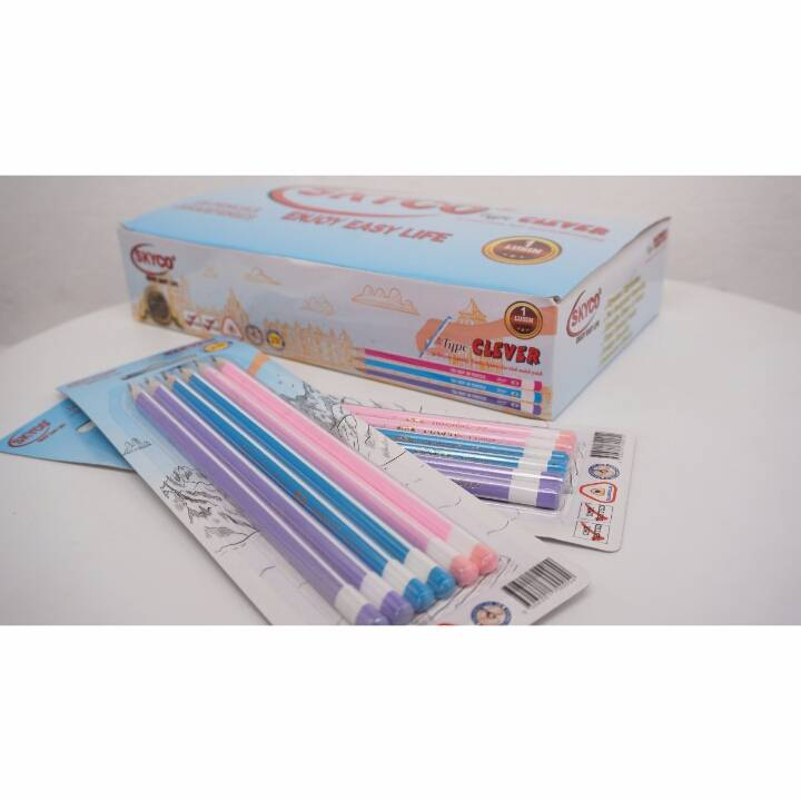 Pensil / Pencil Skyco Clever 2b Per Lusin3