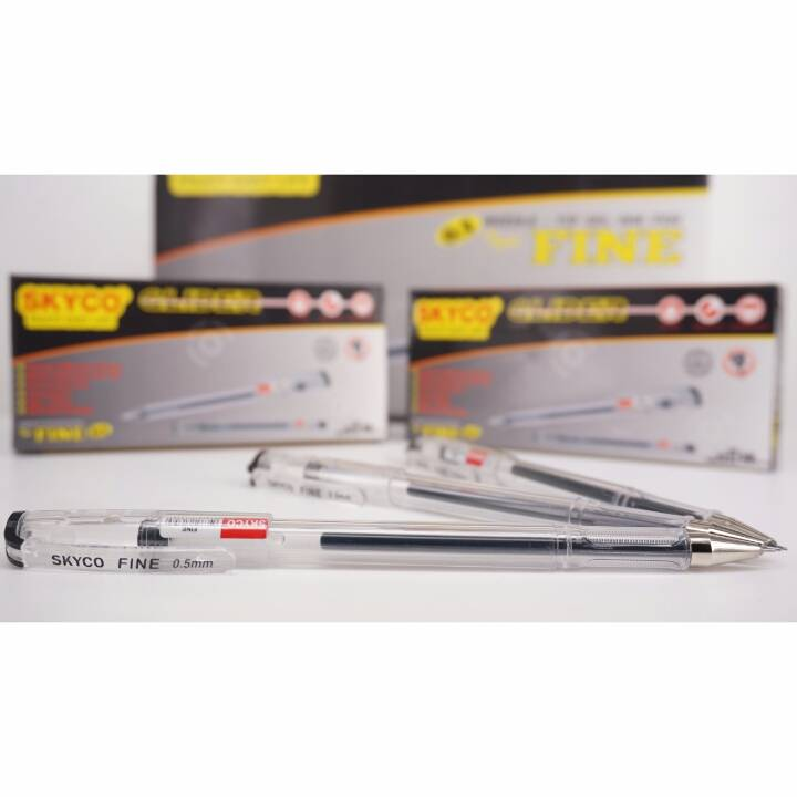 Pulpen / Pen Skyco Fine Black Per Lusin New Arrival !!!4