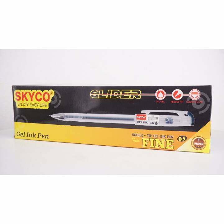 Pulpen / Pen Skyco Fine Black Per Gross (new Arrival !!!)