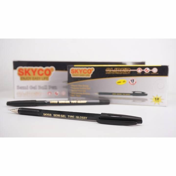 Pulpen / Pen Skyco Glossy Black Per Lusin (new Arrival !!!)3