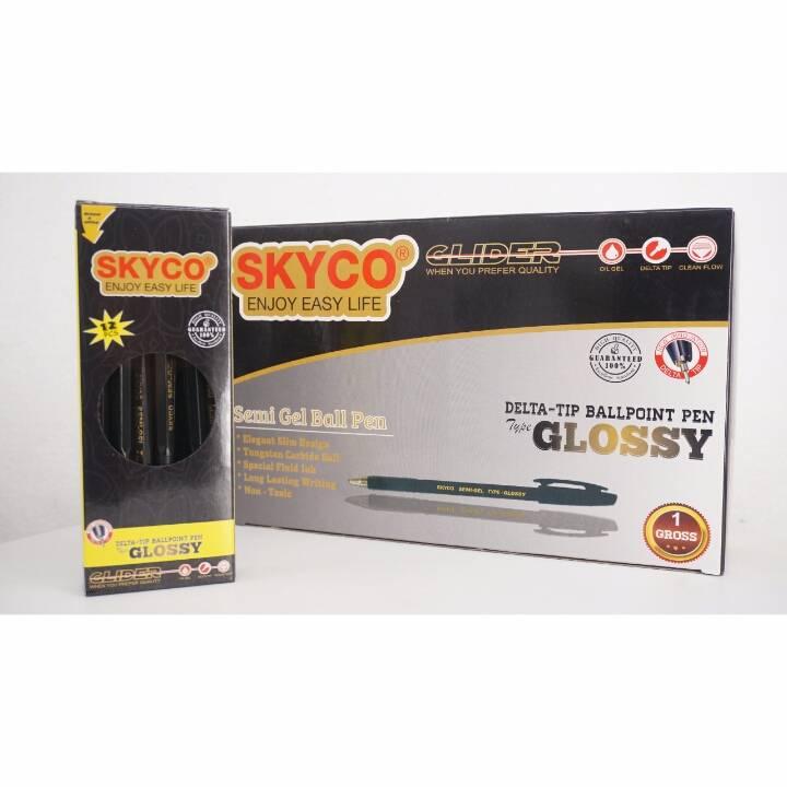 Pulpen / Pen Skyco Glossy Black Per Gross ( New Arrival !!!)1