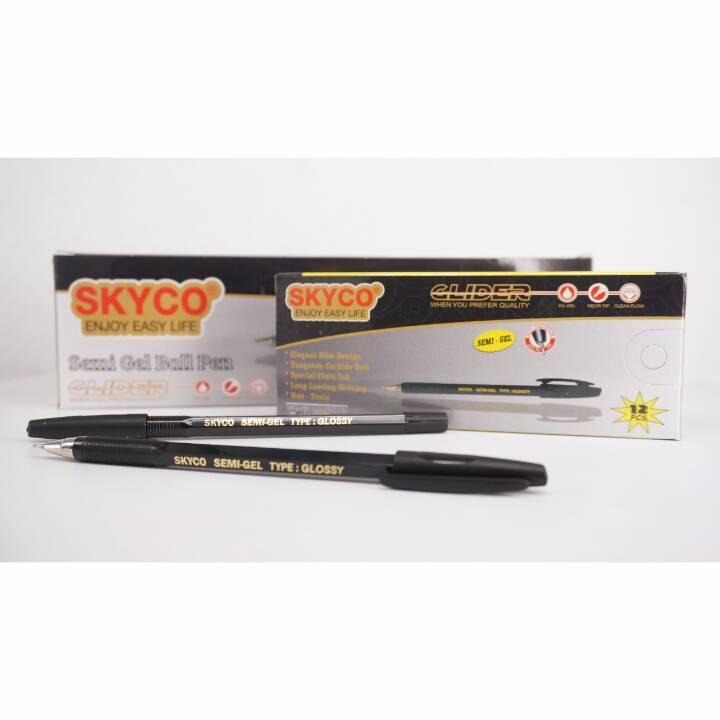 Pulpen / Pen Skyco Glossy Black Per Gross ( New Arrival !!!)2