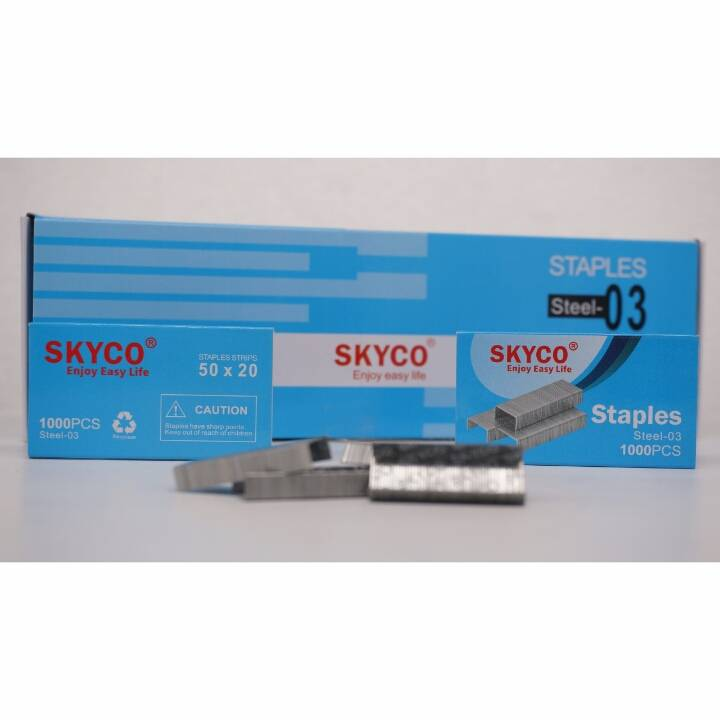 Staples Skyco Steel -03 Nomor 03 Per Box (new Arrival !!!)3