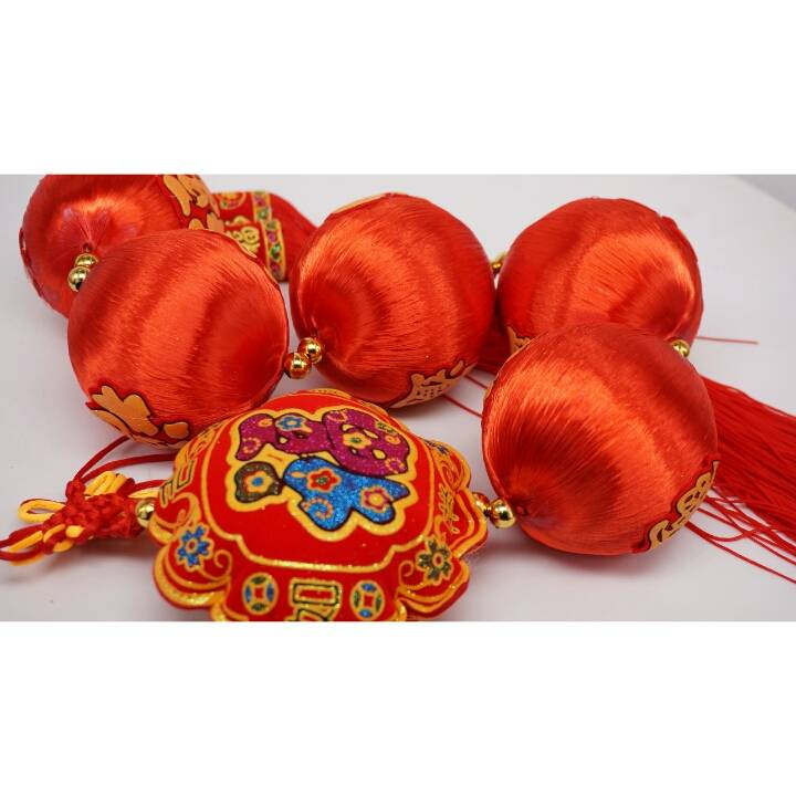 Chinese Lantern Set Big / Hiasan Imlek Lampion Besar