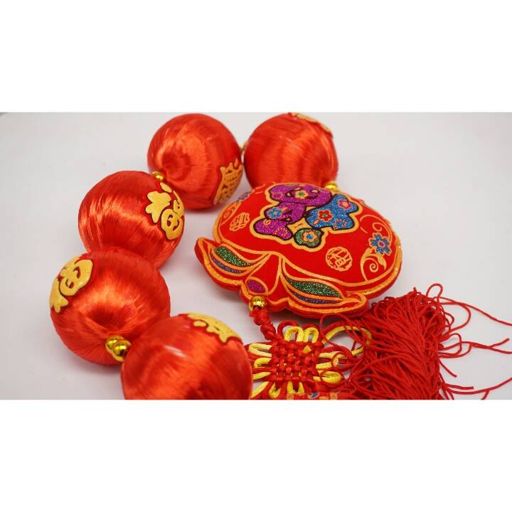 Chinese Lantern Set Medium / Hiasan Imlek Lampion Sedang